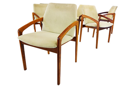 Set of 6 Danish Mid-century Kai Kristiansen carver dining chairs for Korup Stole