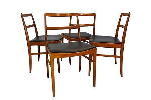 Danish Mid-century Arne Vodder model 430 teak dining chairs for Sibast