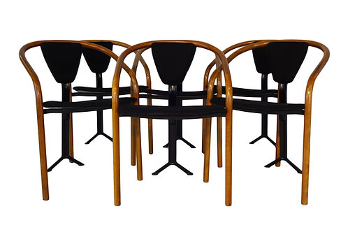 Set of 6 1980's tripod 'Tacchi chairs by Toshiyuki Kita for AIDEC Japan