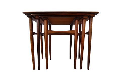 Kai Kristiansen Mid Century Rosewood Nesting Coffee Table Set