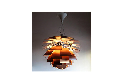 Mid-century copper Poul Henningsen Artichoke chandelier