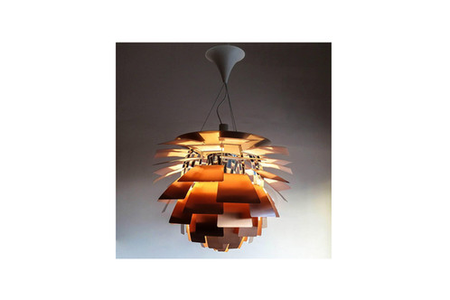 Stunning iconic mid century copper poul henningsen artichoke chandelier mid century copper poul henningsen artichoke chandelier aloadofball Image collections