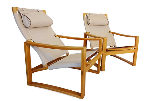 1960's Børge Jensen & Sønner 'Safari' lounge chairs