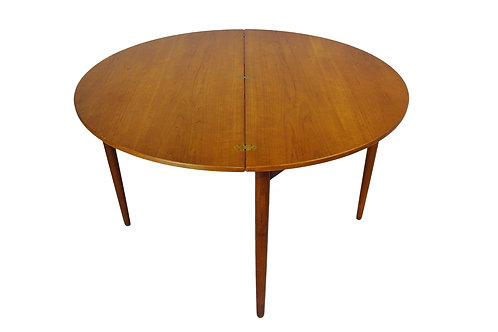 Poul M. Volther drop leaf Mid-century teak dining/console table for Frem Røjle
