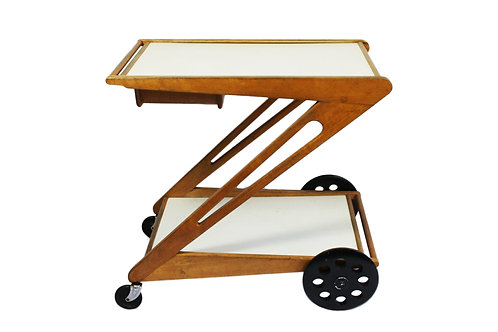 Mid-century Cees Braakman serving trolley for Pastoe