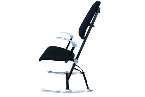 Rare and pristine Hille Meridio posturepedic chair designed by Michael Dye