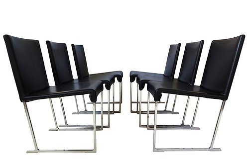 B&B Italia leather dining chairs