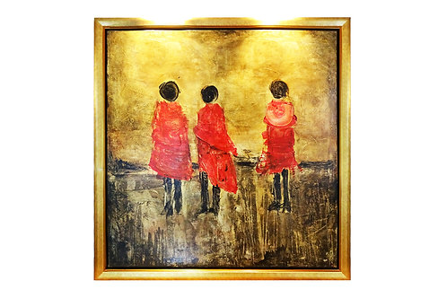 The three sisters - large oil painting