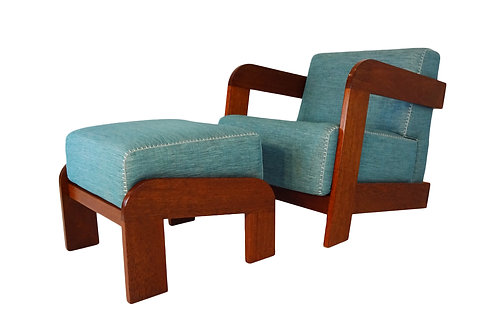 Art Deco lounge chair and Ottoman
