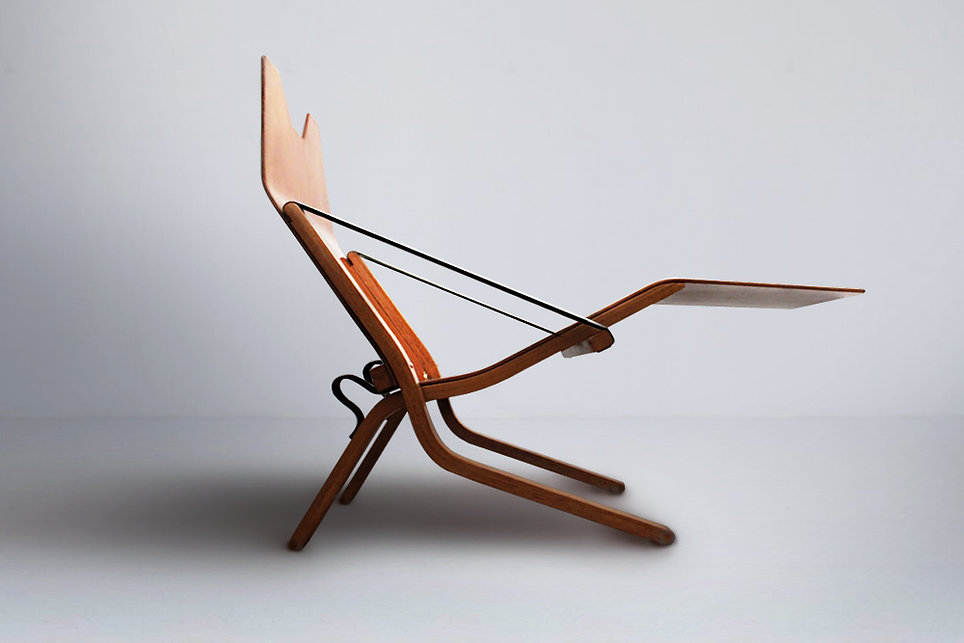 Ernest Race Neptune lounge chair 1950s for P&O