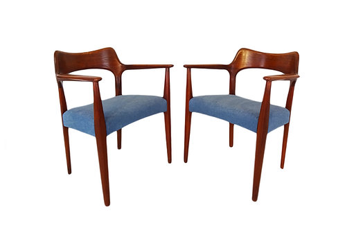 Danish Mid-century Modern carver desk/dining chairs by Arne Hovmand Olsen