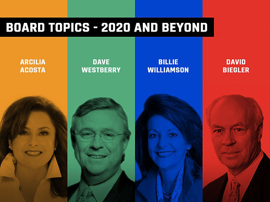 Board Topics - 2020 and Beyond