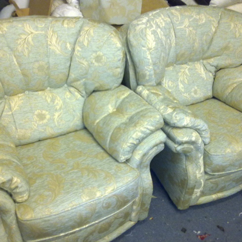 Three piece suite chairs