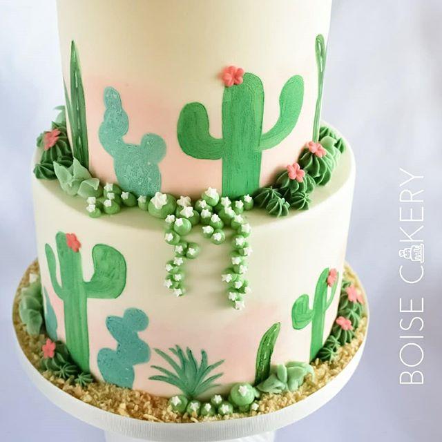Custom Cactus Cake Boise Cakery