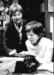 Rosemary Leach with Helene Hanff on stage