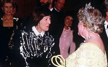 Helene Hanff meets the Queen Mother