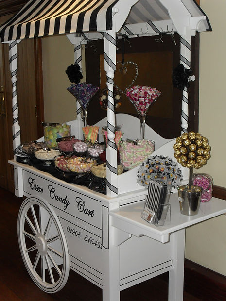 Black and White decorated Sweet Cart