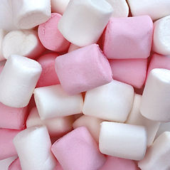 pink and white marsh mellow sweets