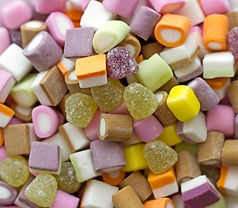 variety of colourful sweets