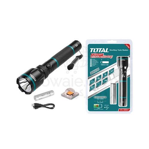 TOTAL TCFL186503 Rechargeable LED Flashlight | كشاف يدوي