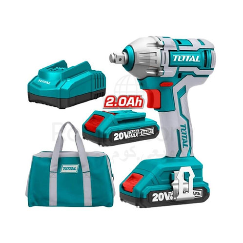 TOTAL TIWLI2001 IMPACT WRENCH Brush-less 20V 2Ah 300Nm | دريل نص بوصة 20 فولت