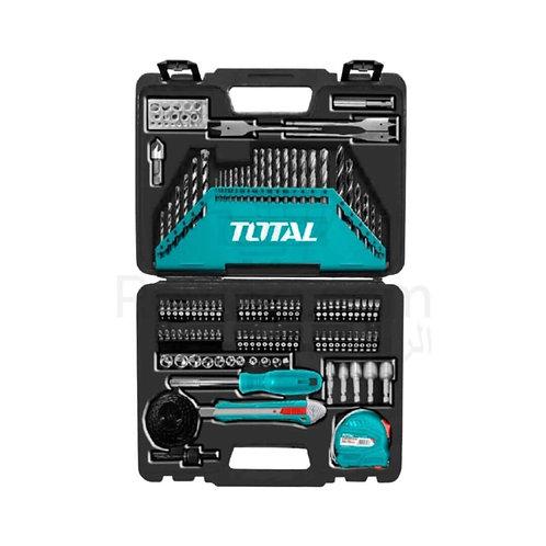 TOTAL THKTAC011182 118 Pcs Drill Bits Set   شنطة عدة متكاملة 118 قطعة