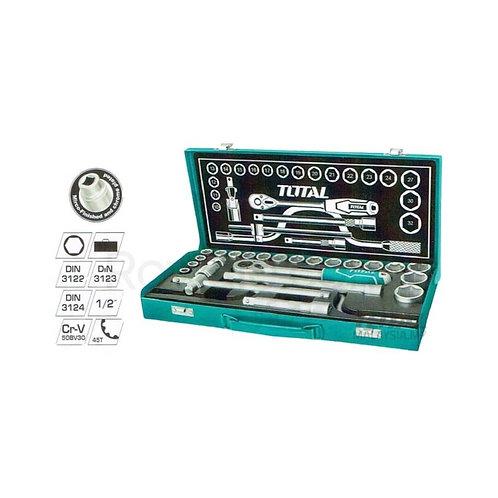 TOTAL THT141253 24 Pcs 1/2″ Socket Set | طقم لقم نص بوصة 24 قطعة