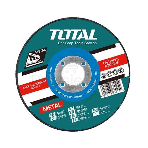 "TOTAL TAC2211253 Abrasive Metal Cutting Disc 5""   حجر بسكوتة حديد 5 بوصة"