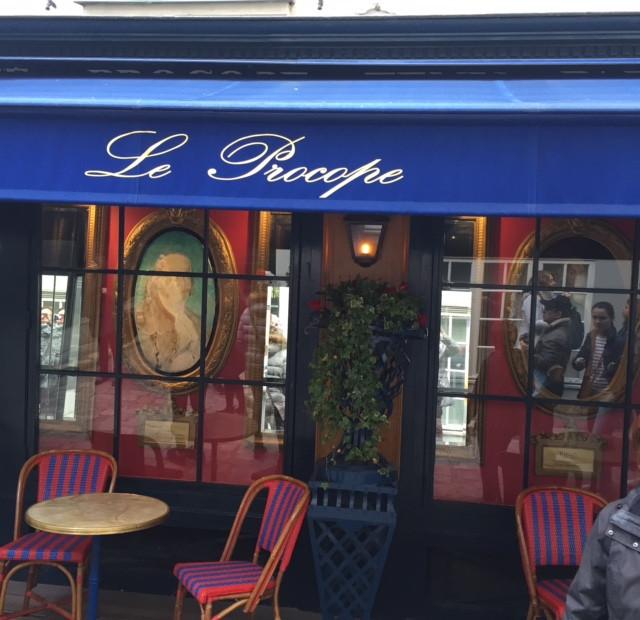 Paris, Quartier latin, le café Procope