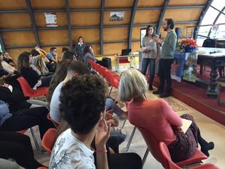 Les élèves Esabac du lycée du Convitto ont participé au débat avec M. Vincent sur le monde et la ter
