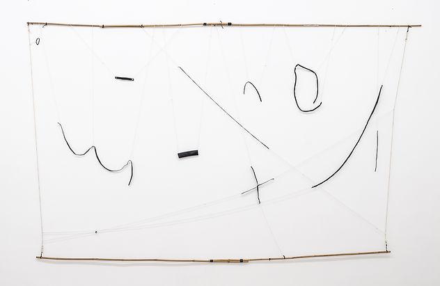 Hanging Drawing I (2017-18), Bamboo, rub