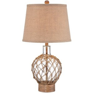Rope & Glass Jug Table Lamp