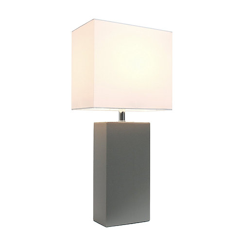 Modern Genuine Leather Table Lamp
