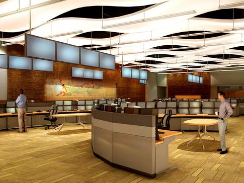 Salle de contrôle Bechtel USA, Australie, 2012