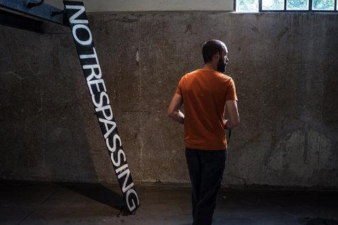 """Bärbel Schmidtmann """"In tiefer Trauer"""" (With sincere sympathy) installation, 2017."""