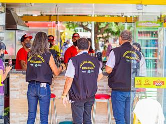 Fase Vermelha: Prefeitura intensifica fiscalização em estabelecimentos