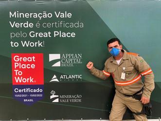 GPTW: Mineração Vale Verde conquista selo de excelente empresa para se trabalhar