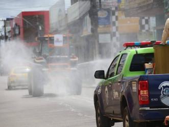 Prefeitura realiza desinfecção contra coronavírus na cidade