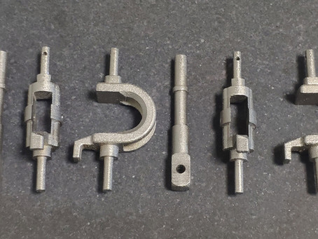 Printing parts for crane equipment on a 3D metal printer