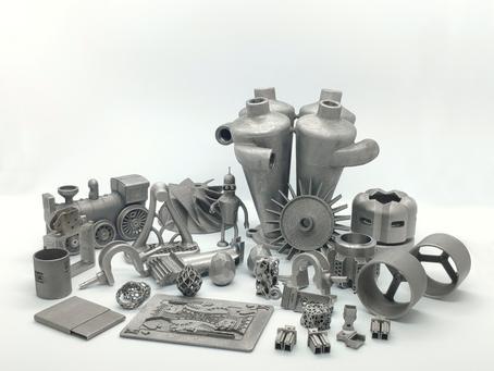 3D metal printed samples