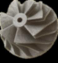 3D printed metal compressor wheel