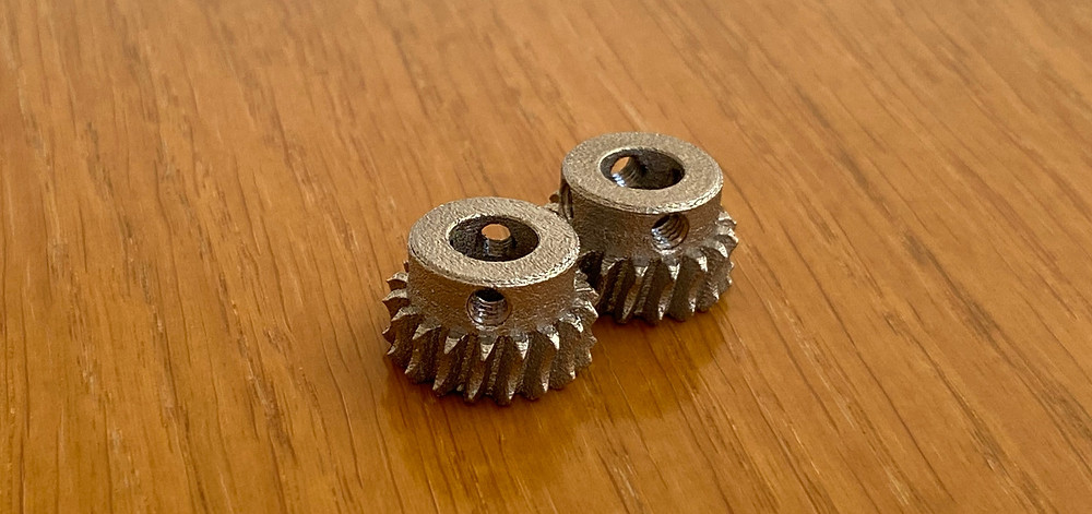 3D printed worm gear, stainless steel