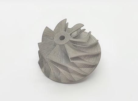 Turbojet compressor 3D metal printing