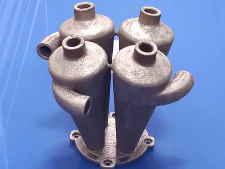 Копия 3D печать циклонного фильтра из металла