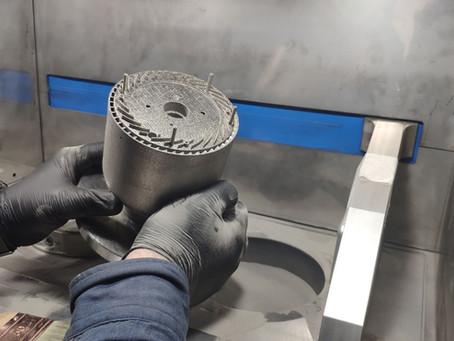 3D печать турбореактивного двигателя из металла Inconel 718