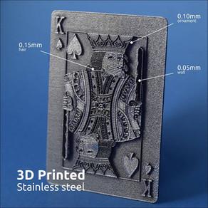 3D печать металлом игральной карты