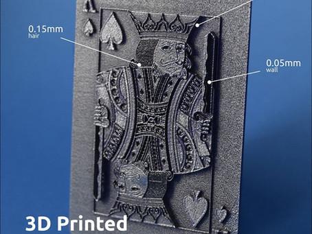 Копия 3D печать металлом игральной карты