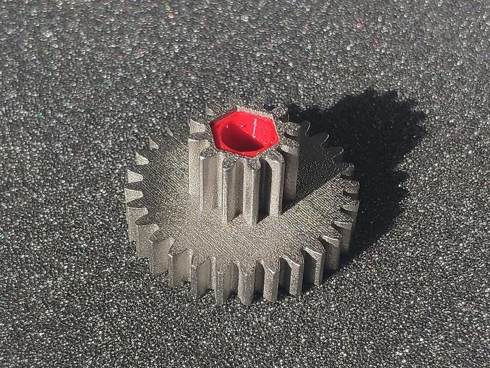3Д печать шестерни из металла нержавеющая сталь