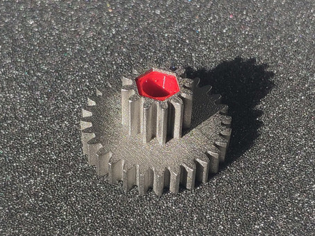 3D metal printed shredder gear