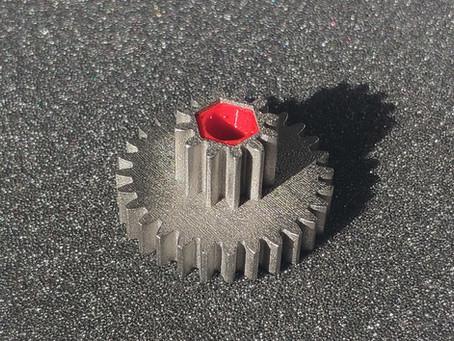 3D печать шестеренки из металла